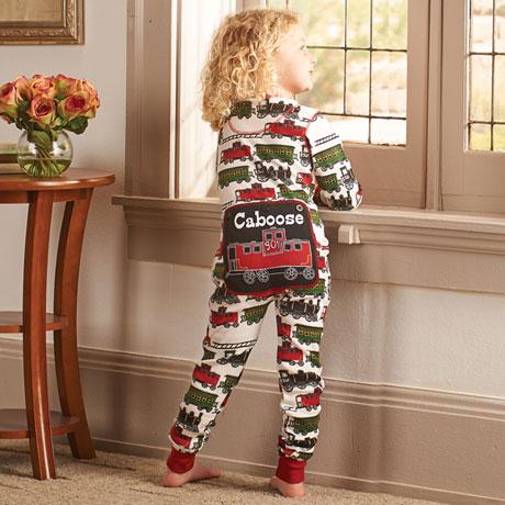 Children's Train Caboose Pajamas