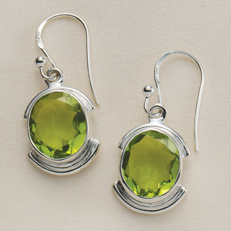 Peridot Glass Earrings