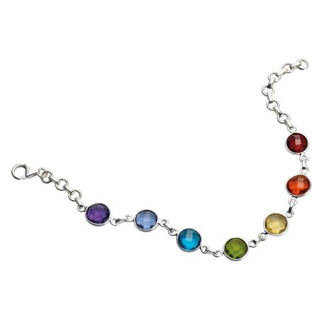 Rainbow Glass Bracelet