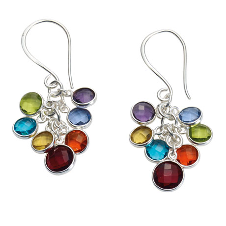 Rainbow Glass Earrings