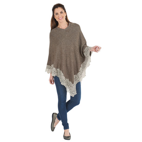 Lace-Edged Poncho