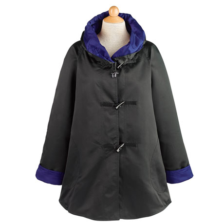Satin Reversible Raincoat