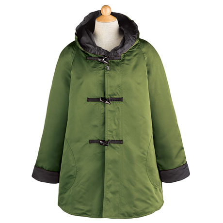 Satin Reversible Raincoat