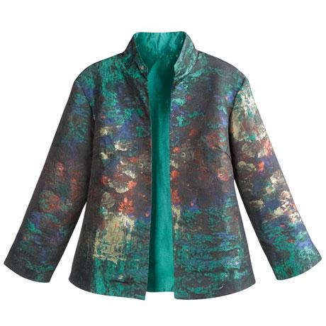 Monet Impressionist Print Jacket