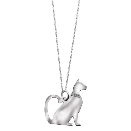 Sterling Silver Cat Breed Necklace