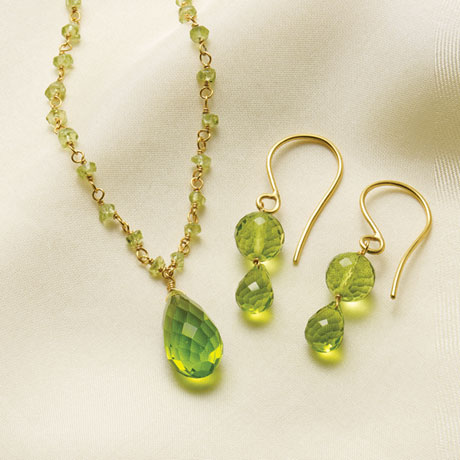Peridot Glass Necklace