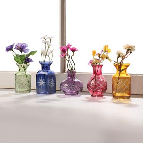 Petite Glass Bud Vases - Set of 5