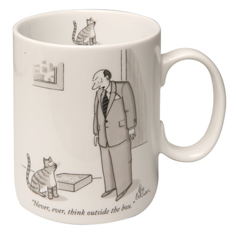 New Yorker Cartoon Mug - Never Think Outside the Box
