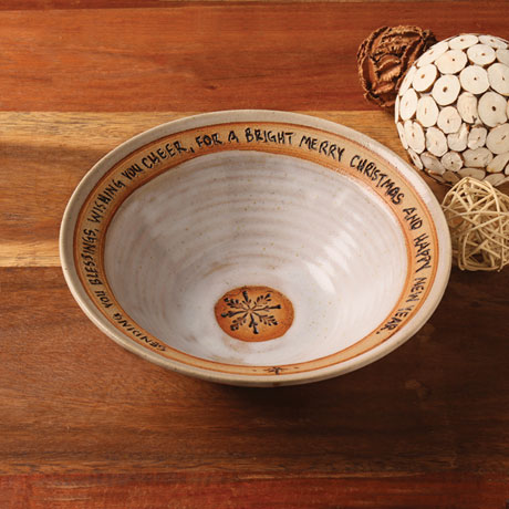 Holiday Blessing Artist-Made Bowl