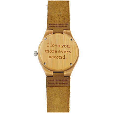 """I Love You More Every Second"" - Bamboo Watch"