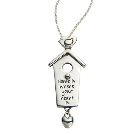 Home Is Where Your Heart Is Sterling Necklace