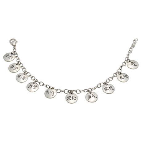 Kanji Ten Charms Bracelet
