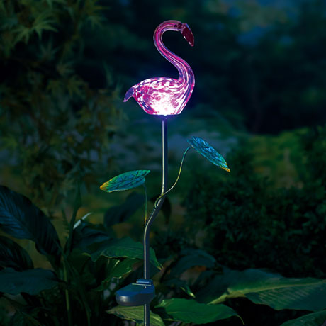 Pink Flamingo Solar Garden Stake