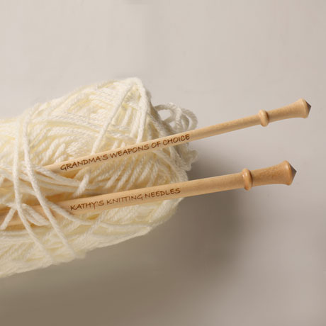 Personalized Knitting Needles - Size 9