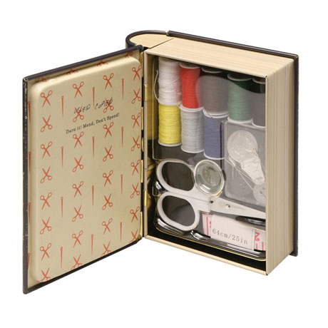 Clever Kits in Little Book-Shaped Tins - Sewing