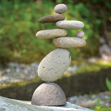 Eight Stone Balancing Cairn Indoor Outdoor Garden Decoration
