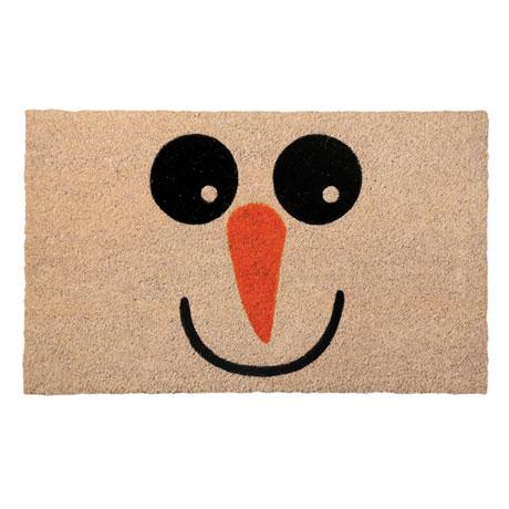 Snowman Face Doormat