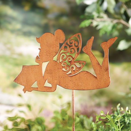 Reading Fairy Garden Stake