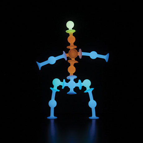 Squigz Glow-In-The-Dark 24 piece Set - Fat Brain Toys