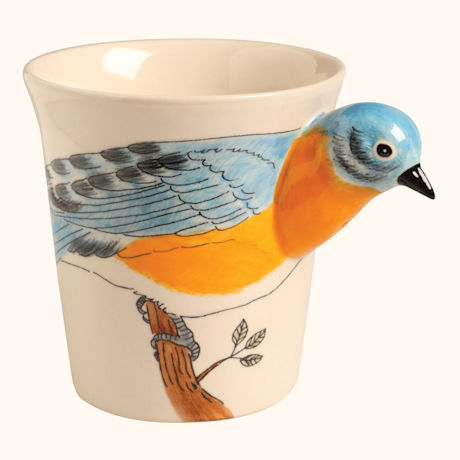Hand Painted Songbird Mugs