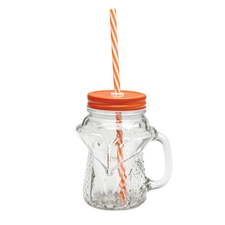 Fox Mason Jar Mugs