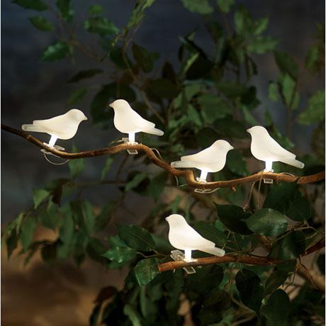 Solar-Powered Birds Light String