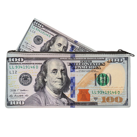 Bank Note Zipper Pouches