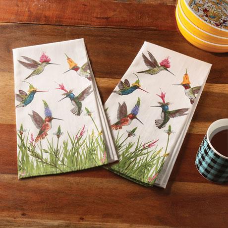 Meadow Buzz Hummingbirds Dish Towel Set