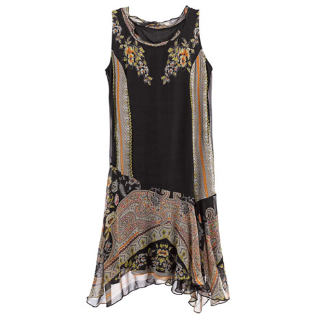 Paisley Flounce Dress