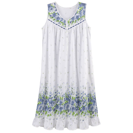 Blue Wildflowers Nightgown