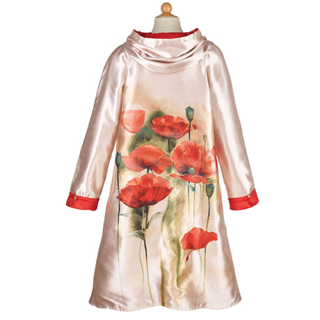 Reversible Poppies Raincoat