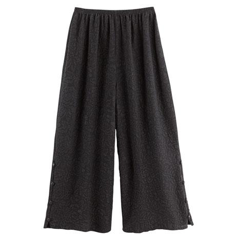 Black Wide-Legged Flood Pants