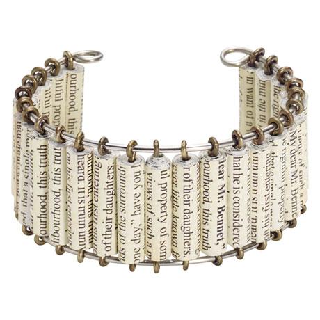 Pride and Prejudice Handmade Cuff Bracelet