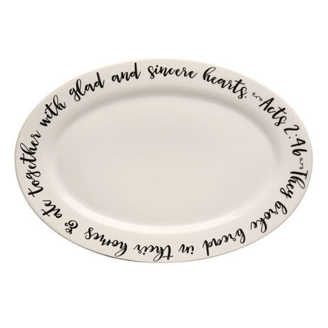 They Broke Bread Ceramic Platter