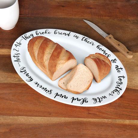 They Broke Bread Ceramic Platter