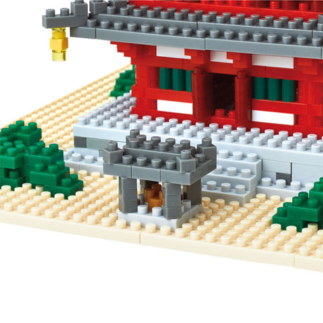 Nanoblock Micro-Sized Building Blocks Pagoda Set