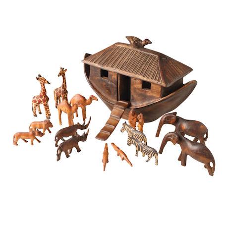 Hand-Carved Noah's Ark