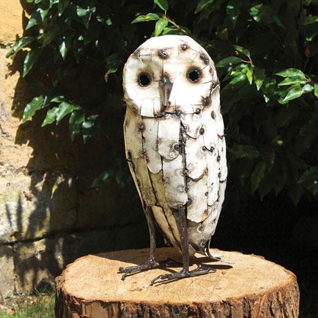 Snowy Owl Garden Art