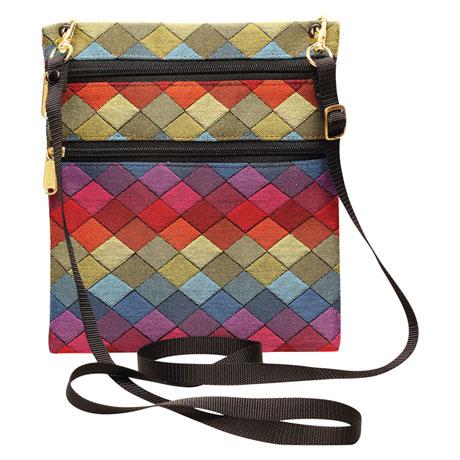 Colorblocked Jewels Crossbody Handbag
