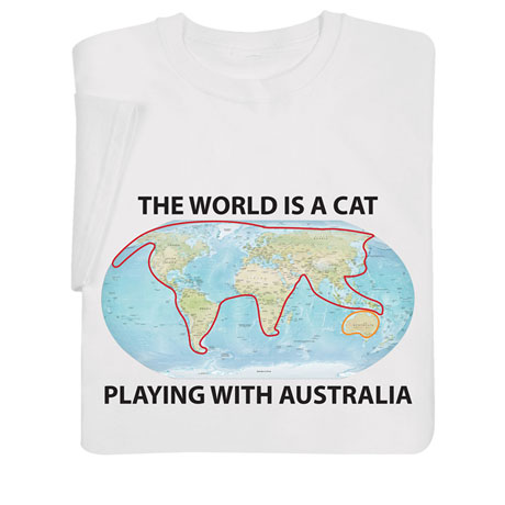 The World Is a Cat Playing With Australia Shirts