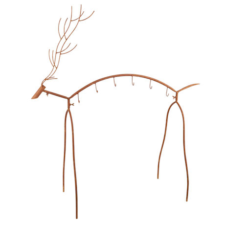 Metal Reindeer Stocking Holder Stand