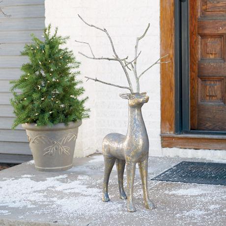 Rustic Deer Sculpture