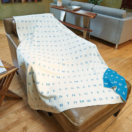 Word Search Knitted Throw