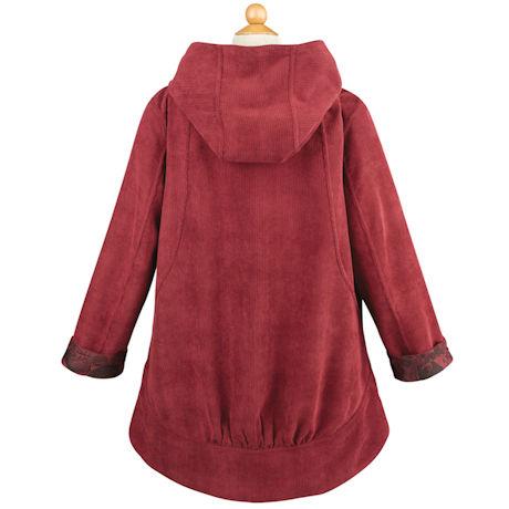 Reversible Corduroy Hooded Floral Jacket