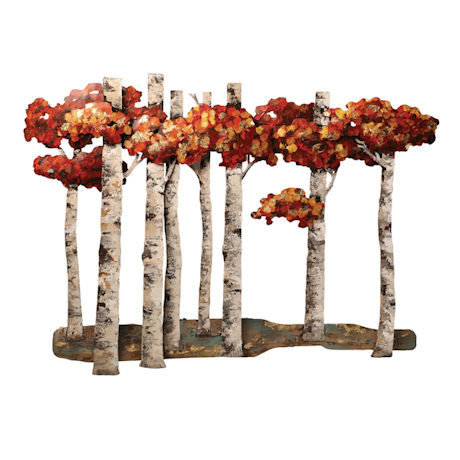 Birches in Fall Wall Art