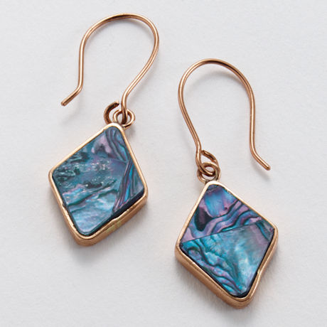 Abalone and Copper Earrings