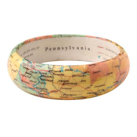 State Map Bangle Bracelet