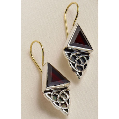Celtic Garnet Earrings