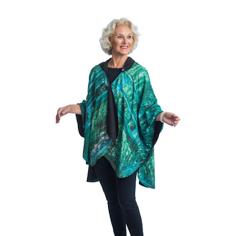 Monet Water Lily Reversible Rain Cape