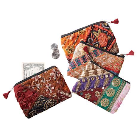 Vintage Saris Coin Purse